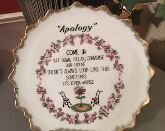 Apology kitschy plate
