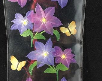 Purple Flowers Jolees Boutique