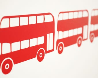 London Bus / Double Decker Vinyl Wall Art Decals/Stickers - Various Colours & Sizes