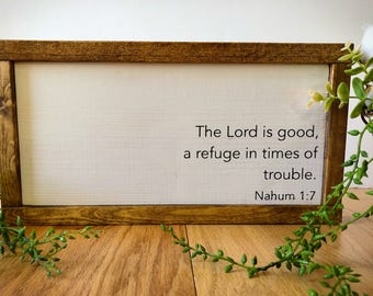 Framed Wood Sign - The Lord is Good
