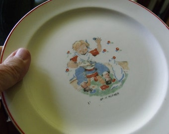 Little Jack Horner plate from the 30's