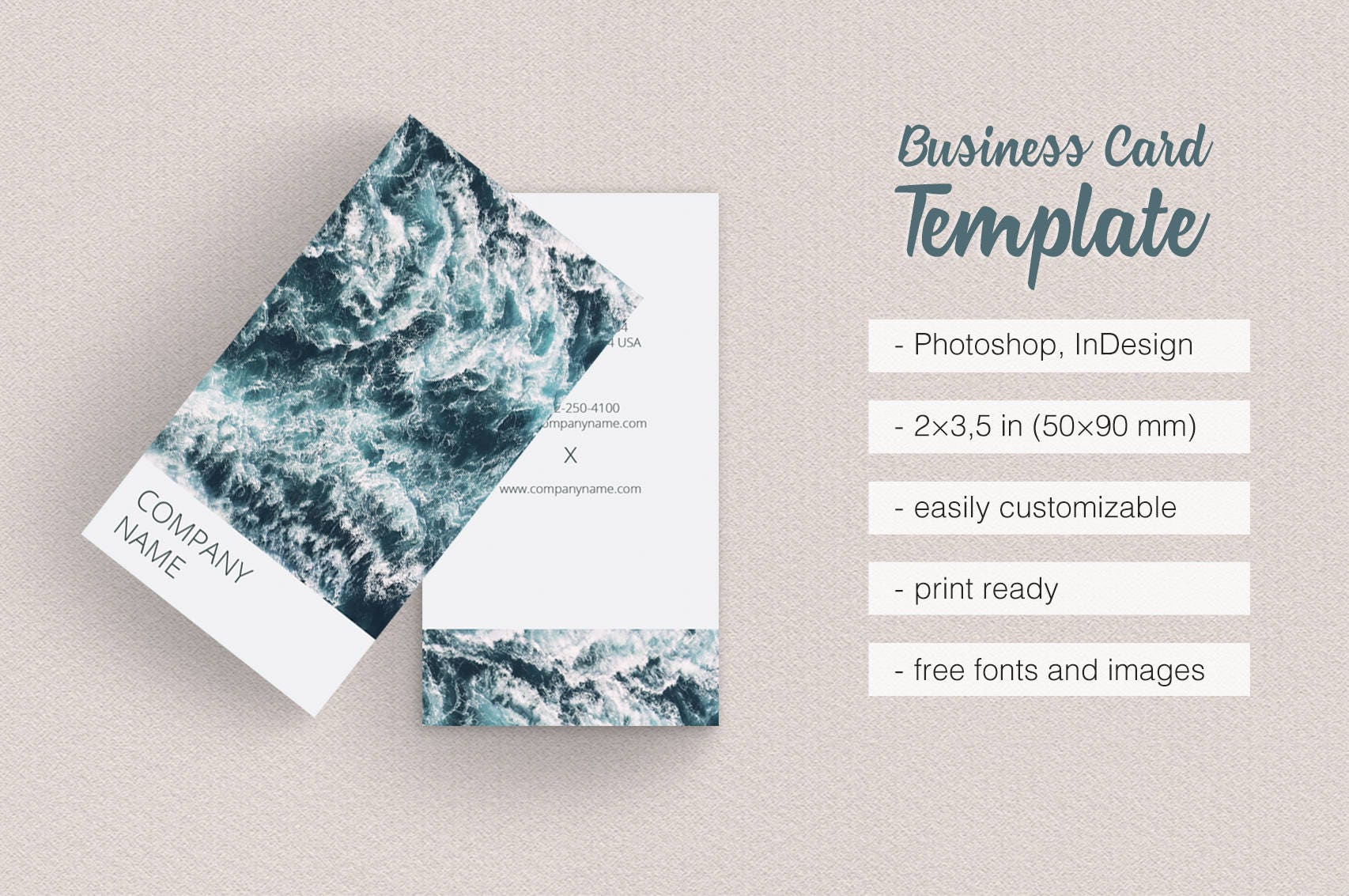 Asian Dream Business Card Template Simple and Clean Design