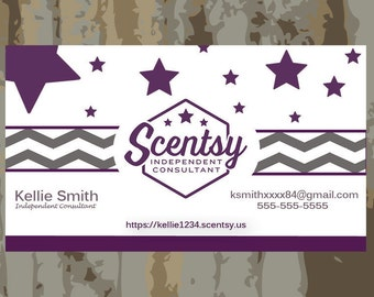 AUTHORIZED SCENTSY VENDOR Scentsy Business Cards Digital File