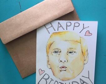 Happy Birthday (card) // Trump // Gift //Funny // President