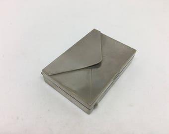 Pill box metal envelope