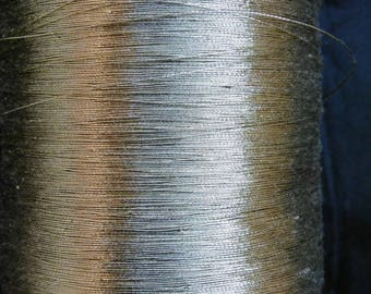 Spool of vintage old/FLOSS gold gilt effect/old gold thread spool 67g