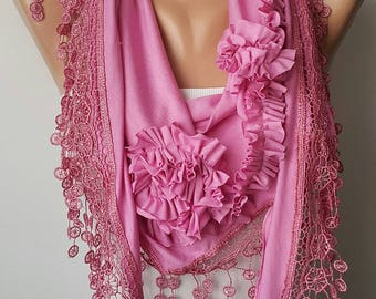 Scarf Shawl Mothers Day Gift Scarf Women Gift Scarf Personalized Gift ideas for Her Girlfriend gift for her Mother's Day Gift  Lace Scarf