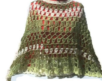 Circular Asymmetric Poncho Avocado Shawl Crochet Pattern PDF File Avant Garde Unbalanced Design Not a finished product It is a PDF Pattern