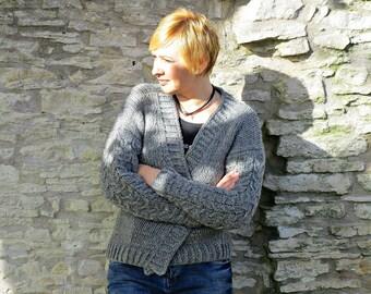 Chunky knit cardigan Knitted cardigan Oversized cardigan Clothing-gift Knit jacket coat Loose fit cardigan Slouchy cardigan Cable knit coat