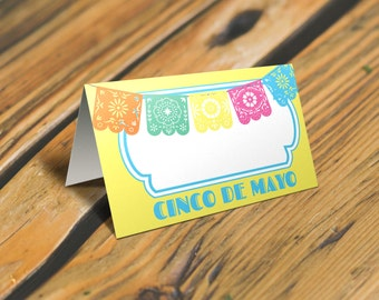 Cinco de Mayo Place Cards or Food Tent Cards with Sign. Mexican Fiesta Tent Cards and Party Sign. Set #1 *INSTANT DOWNLOAD*