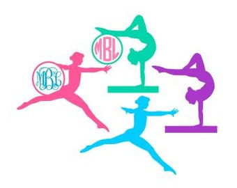 Gymnast Monogram Set SVG, Studio 3, DXF, PS, Ai and Pdf Cutting Files for Electronic Cutting Machines