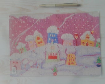 Tale houses. Winter