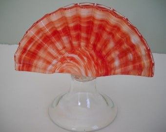 Art Glass Seashell Napkin Holder