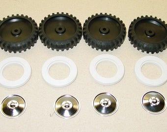 Set of 4 Tonka Tires w/Whitewalls & Hubcaps