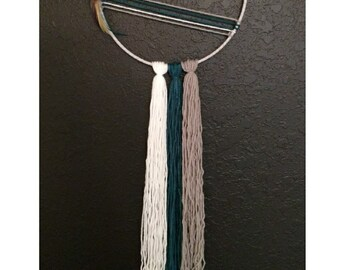 Silver and Teal Dreamcatcher