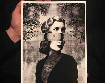 The Grief, fine art print on heavyweight textured 300g paper
