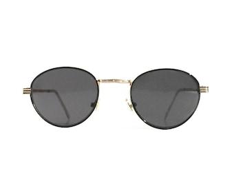 Vintage Round Sunglasses Gatsby P3 Glasses John Lennon Glasses Grey Lenses Gold Frames O'Malley Sunglasses 1980s Deadstock Men Women NOS
