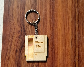 NES Cartridge Engraved Wooden Keychain w/Personalized Option