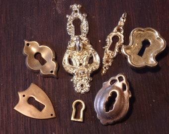 Shield and Ornate Key Guard Escutcheons