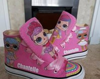 Custom Doll Surprise High Tops Shoes Girls Pumps Sneakers Personalised