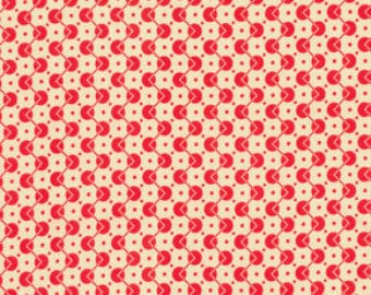 SALE Fabric, Chicopee by Denyse Schmidt, Voltage Dots in Red, OOP Fabric, Red Polka Dot Fabric, Geometric Fabric