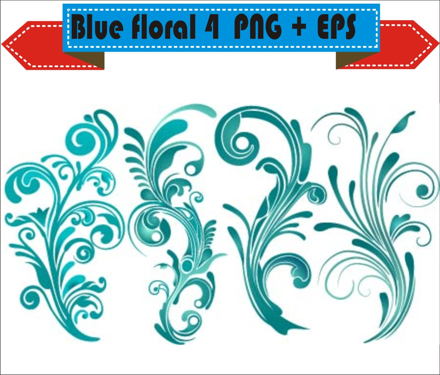 Decorative Plant Floral Flowers Border Corner Retro Vector