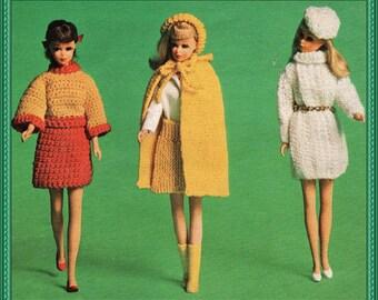 5 Knitting/crochet patterns for Barbie