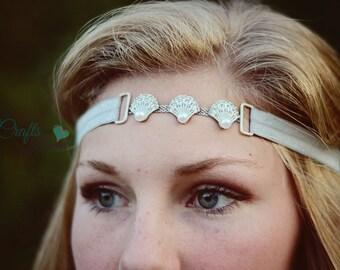 Seashell Headband - Beach Bridal Headband - Bridal Headband - Wedding Headband - Boho Headband - Seashell Beach Headband - Beach Headband