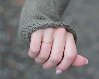 Hammered Rose Gold filled ring || Rose gold filled stacking ring