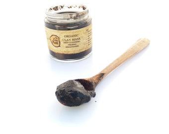 Organic clay mask Blackhead Acne treatment Eczema Anti spots mask Firming vegan face mask Detox Bachelorette party Spa night 100 ml, 3.7 oz