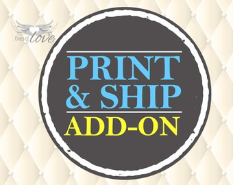 Printing and Shipping Service Add-on for your Digital Poster Design