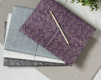 recycled paisley a4 notebook