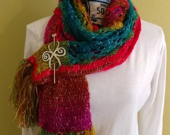 Seashell hippy scarf with fringe