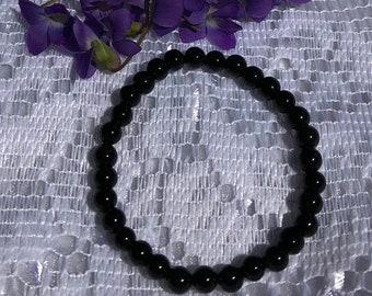 Black Obsidian - 6mm beads