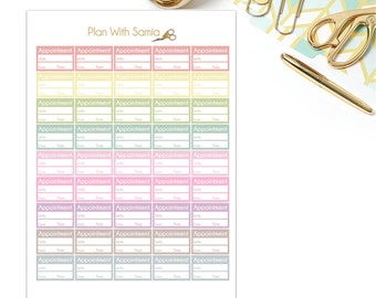 Appointment Stickers - Printable Planner Stickers