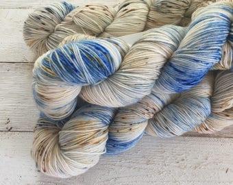 Hand Dyed Yarn - Indie Dyed Yarn - Farmhouse Sock - Barn Swallow