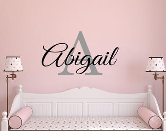 Personalized Name Decal-Custom Wall Decal-Nursery decor-Baby Wall Decal-Name Wall Decal-Nursery Wall art-Personalized Wall Decal-N402