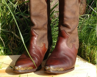 Vintage cowgirl boots, boots, women's boots , cowgirl boots , leather boots , vintage zodiac boots , zodiac boots , boots , western boots