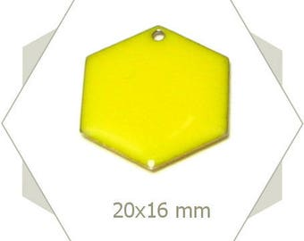 6 sequins hexagons bright yellow SEH09 pendants