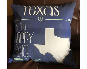 Texas is My Happy Place in Dark Blue