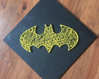 Batman String Art [Home Decor][Birthday/Christmas Gift for Him/Her][Wall Art][Dc Comics][Batman][Customizable][Handmade to Order]