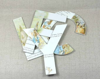 Peter Rabbit/Beatrix Potter mural lettres, acheter 2 obtenez 3e gratuite! Peint, emballage de cadeau gratuit à la main