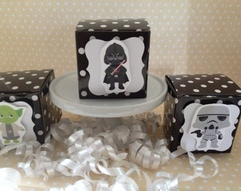Star Wars Birthday Party Mini Favor Boxes - Set of 10