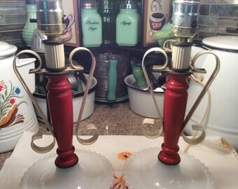 Hobnob Milk Glass lamps / set of 2