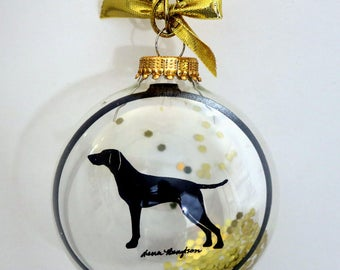 Weimaraner, Ornament, Silhouette, Illustration, Dog Gifts, Pet Loss Gifts, Dog Art, Dog Ornaments, Dogs, Christmas Ornament, Dog Mom Gift