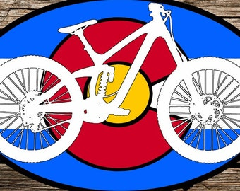 Colorado Mountain Bike Sticker