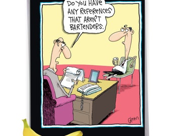 J7010GD Jumbo Funny Blank Graduation Greeting Card: Bartenders, with Envelope
