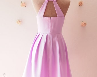 Love Potion Purple Sundress Bridesmaid Dress Backless Dress Vintage Modern Dress