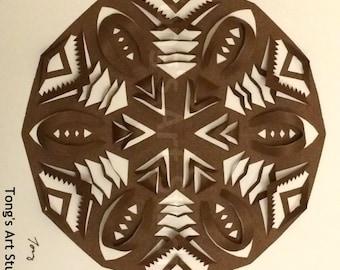 Unique 3D Snowflake paper cuttings, Box frame,snowflake paper cut, 3D art, snowflake,