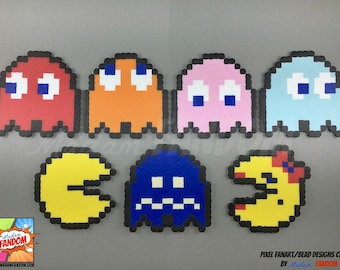 PacMan Magnets or Ornaments | PacMan Ornaments | PacMan Fridge Magnets | Video Game Magnets | Locker Magnets | Decorative Ornaments |